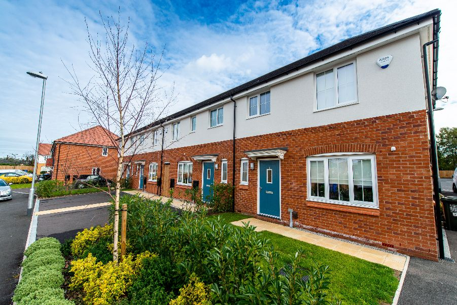Terraced family homes at Baytree Lane, Middleton